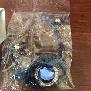 Blue string bracelet
